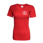 "Dubuque Fighting Saints Womens T-Shirt ""Ribbon"""