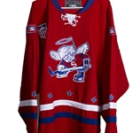 Dubuque Fighting Saints Red Retro Jersey