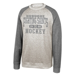 "Dubuque Fighting Saints Adult Sweatshirt ""Oatmeal Crew"""