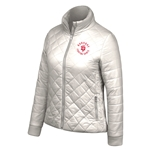 "Dubuque Fighting Saints Womens Puffer Jacket ""Diamond"""
