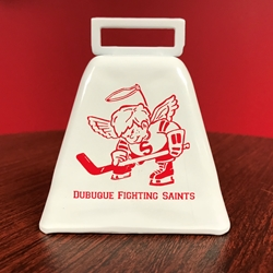 "Dubuque Fighting Saints Novelty ""Retro Cowbell"""